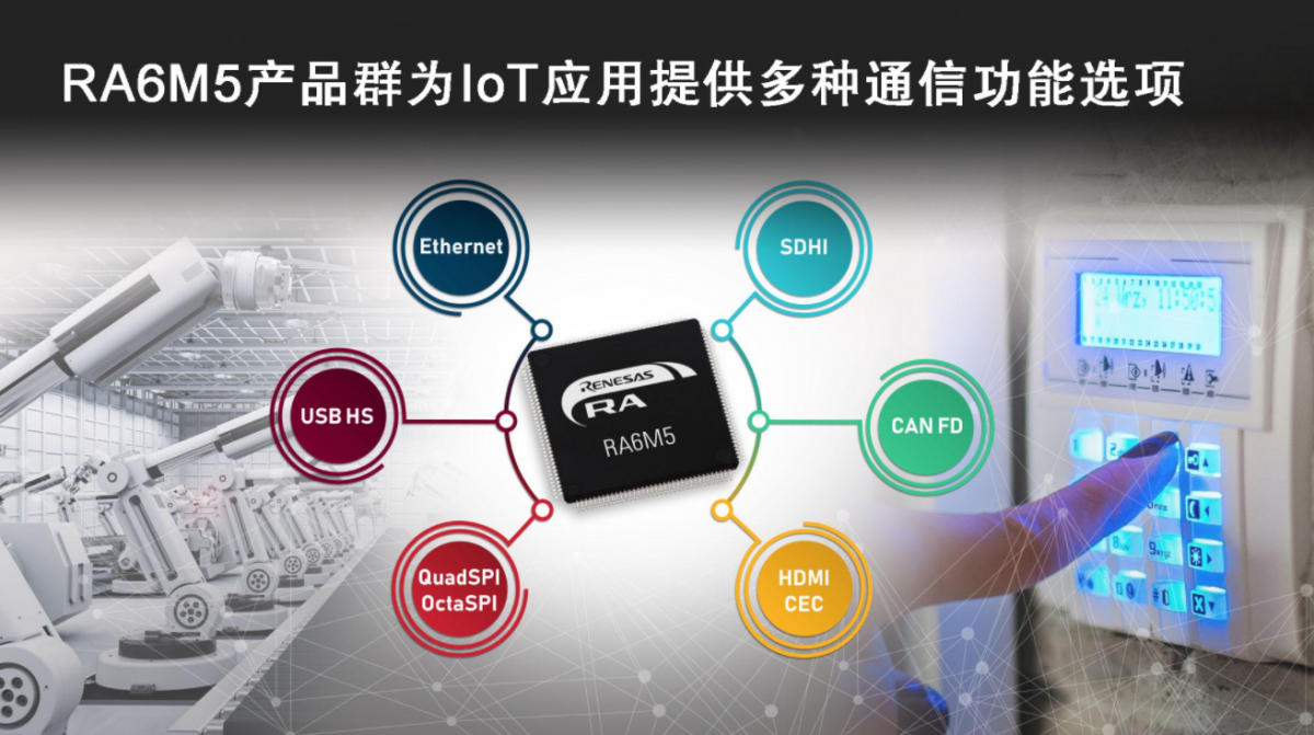 Renesas Electronics launches new RA6M5 product group Arm Cortex M33 core RA6 series mainstream MCU product line tends to be complete