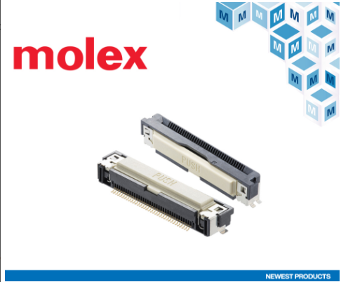 Mouser Electronics launches Molex Easy-On FFC/FPC One-Touch connectors for automotive infotainment systems and other purposes